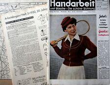 Handarbeit-  mode zeitschrift 1950,mit schnittmuster