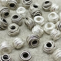 6 Thai Karen Hill Tribe Silver Tribal Wired Spacer Beads 6mm