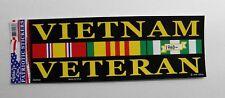 Vietnam Veteran Vet Bumper Sticker made in USA 9 x 3.25 inches