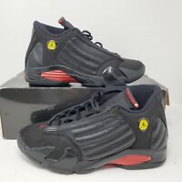 2011 Nike Air Jordan 14 XIV Retro Last Shot Mens SZ 9 Black Red Shoes 311832-010