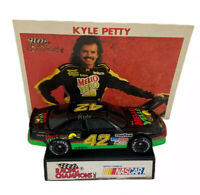Kyle Petty Mello Yellow #42 Racing Champions Diecast Car Double Sided Info Card