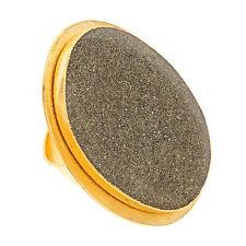 Bita Pourtavoosi Handmade 24k Gold Plated Resin Cocktail Ring Sizes 5,6,7,8