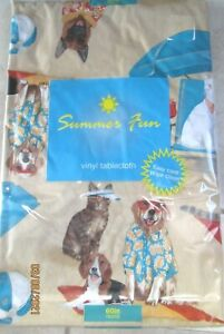 TABLE CLOTH..VINYL...4 SIZES TO CHOOSE FROM.. DOGS AND CATS