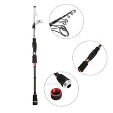 Portable Travel Carbon Telescopic Spinning Fishing Rod Sea Bass Reel Pole Tackle