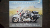 HARLEY-DAVIDSON Placa metalica litografiada anuncio publicidad 40x33 cm replica