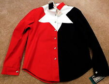 NEW Small Roughrider Circle Red White Black Long Sleeve Shirt 100% Cotton $53.99