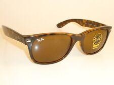 New RAY BAN Sunglasses Brown WAYFARER  RB 2132 710  B-15 Glass Brown Lenses 52mm