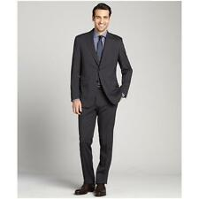 New  CANALI Charcoal Black Classic Italian Wool Suit 50R  Model L  13290/37