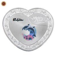 WR Dauphin d'amour pour toujours Pièce commémorative en argent Cadeaux Valentine