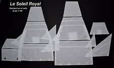 Heller Le Soleil Royal 1:100 - set of standard sails for model