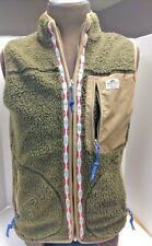 PENFIELD Fleece Vest Sherpa Olive Green Men's Size M