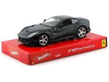 HOTWHEELS FERRARI F12 BERLINETTA BLACK 1/24 DIECAST CAR MODEL  BCK03