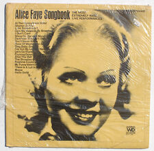 SEALED ALICE FAYE: Songbook Rare Live Performances LP WONG RECORDS ECIF087