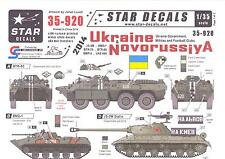 Star Decals 1/35 UKRAINE & NOVORUSSIYA Government, Militias, & Football Clubs