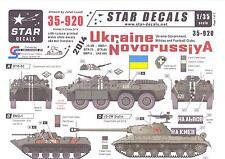 Star Decals 1/35 UKRAINE & NOVORUSSIYA Government, Militias, & Football Clubs