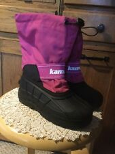 Kamik Girls Icebuster Winter Boots.  Size 2.  Pink, Black.  Lined.
