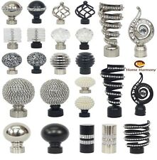 Home Harmony Metal Curtain Pole Pack of 2 Finials / Ends for 28mm Diameter Poles