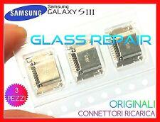 3 pezzi CONNETTORI ORIGINALI RICARICA M. USB SAMSUNG GALAXY S3 I9300 I9301I Neo