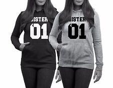 Hoodie SISTER 01 Best Friends Pullover Beste Freundin Pärchen Couple JGA WOW