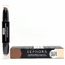 Sephora Highlight lowlight face contour duo TAN MAT 03 NEW IN BOX 0.12 Oz