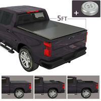 Soft Tri-Fold Tonneau Cover For 2019-2020 Ford Ranger 5 FT Short Truck Bed