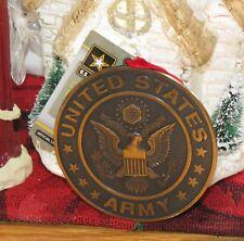 Kurt S Adler United States Army Military Round Circle Christmas Ornament