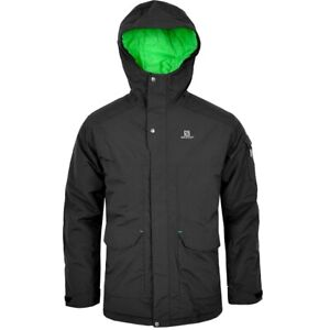 Salomon Children's Ski Jacket 10K Snowboard Jacket Boys Winter Jacket Black