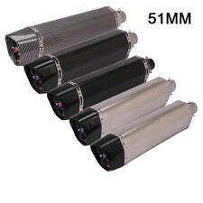 Dual-outlet Stainless Steel Universal Motorcycle Exhaust Silencer Pipe For 51mm