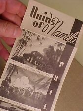 ORIGINAL WWII 1945 RUINS OF MANILA PHILIPPINES FOLD OUT PHOTO BOOKLET