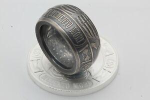Memento Mori 1 oz .999 Silver Coin Ring(size 7-14) Wide or Narrow Band