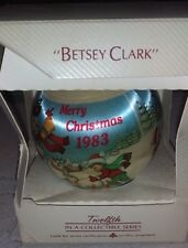"""Hallmark """"Betsey Clark"""" Ornament 12th Collectible Series Merry Christmas 1983"""