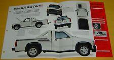 1989 1990 Dodge Dakota Shelby Truck 318 ci IMP Info/Specs/photo/price 15x9