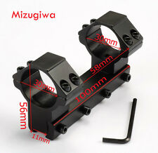 Tactical Integral High Profile 30mm Rings 11mm Rail Scope Mount For Rifle Scope