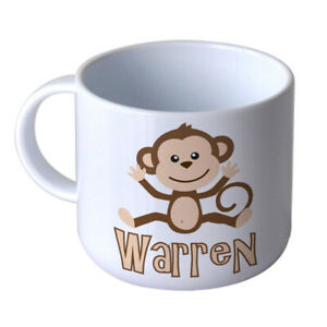 Cheeky Monkey Children's Personalised Mug Unbreakable Kids Toddler First Gift
