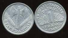 FRANCE  FRANCIA  1 FRANC BAZOR  1942   TTB +  ( bis )