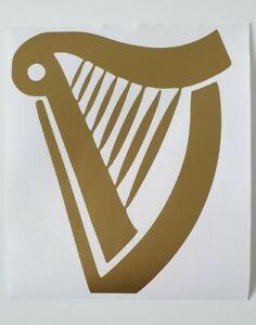 Guinness Vinyl harp Sticker Bar Decal home bar LARGE harp Diy wall car man cave