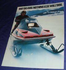 BS255 Vtg Ski-Doo Snowmobile Dealer Sales Brochure 1981