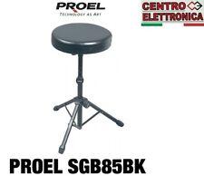 Proel SGB85BK Sgabello per Batteria Chitarra Tastiera regolabile in altezza
