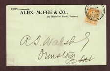 Canada 1895 1 Cent SQ yellow #35 early use of a Pre-printed Private Postcard.