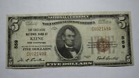 $5 1929 Keene New Hampshire NH National Currency Bank Note Bill Ch .#559 Fine