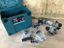 Makita DRT50 18v Brushless Cordless Router, Body Only with 3x Bases & Case