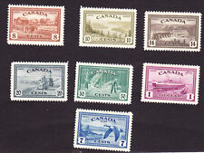 Canada GVI 1946 peace set,mm, (small hinge gum thins), cat £55