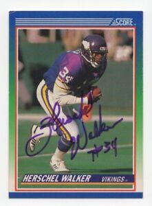 Herschel Walker - NFL Football Great - Autographed 1990 Score Football Card