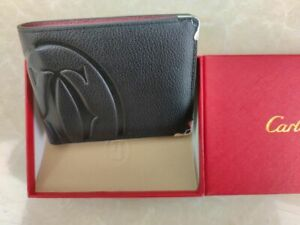 Cartier Wallet Black/Red box and dustbag