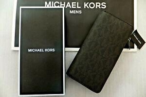 MICHAEL KORS Genuine Mens Jet Set Tech Zip Around Travel Wallet BNWT RRP£139
