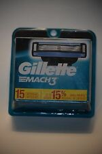 Gillette Mach3 Men s Razor Blade Refills 15 Count Mens Razors Blades. NEW SEALED