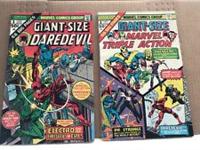Giant-Size Daredevil # 1 and Marvel Triple Action # 1 Vf/Vf+