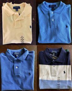 Polo Ralph Lauren Boys Short Sleeve Shirt S 8/M 10-12/L 14-16 Yellow/Blue/Stripe