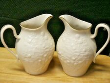 Pair Of 2 Lenox Pitchers Made In Usa Excellent Condition