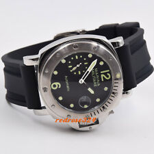 44mm black dial Rotating steel bezel polished case seagull me's automatic watch